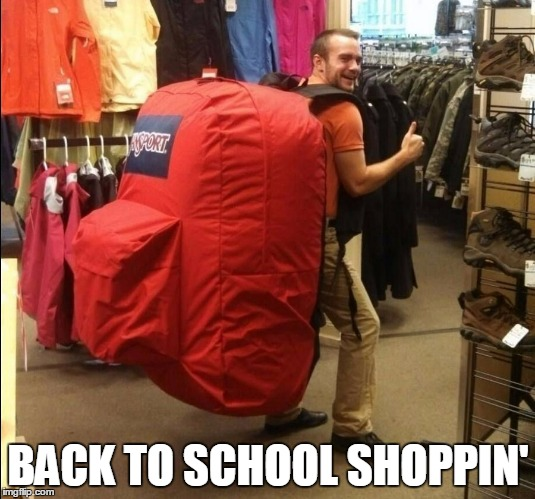 BACK TO SCHOOL SHOPPIN' | made w/ Imgflip meme maker