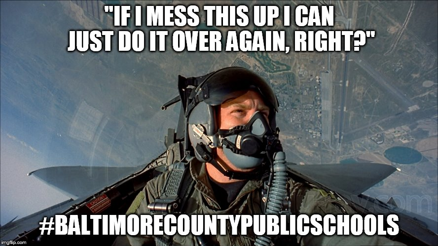 """IF I MESS THIS UP I CAN JUST DO IT OVER AGAIN, RIGHT?"" #BALTIMORECOUNTYPUBLICSCHOOLS 
