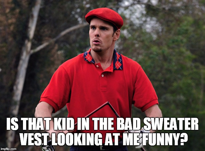 IS THAT KID IN THE BAD SWEATER VEST LOOKING AT ME FUNNY? | made w/ Imgflip meme maker