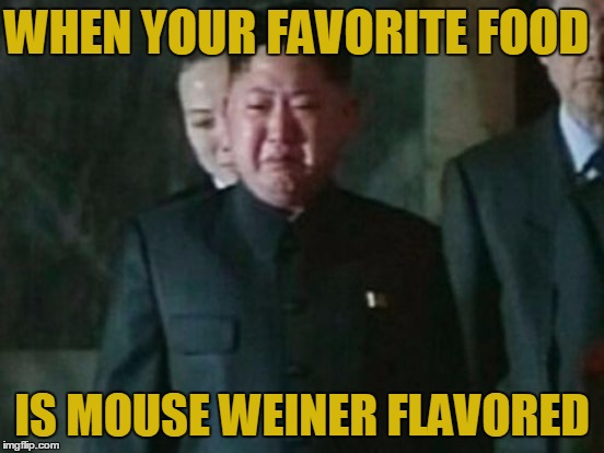 WHEN YOUR FAVORITE FOOD IS MOUSE WEINER FLAVORED | made w/ Imgflip meme maker