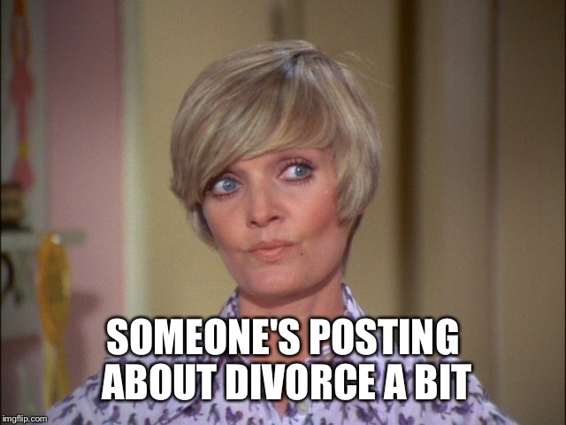 SOMEONE'S POSTING ABOUT DIVORCE A BIT | made w/ Imgflip meme maker