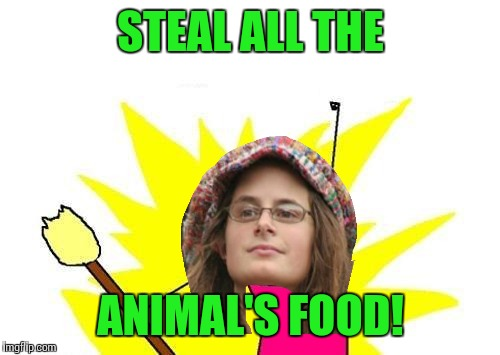X All The Y Meme | STEAL ALL THE ANIMAL'S FOOD! | image tagged in memes,x all the y | made w/ Imgflip meme maker