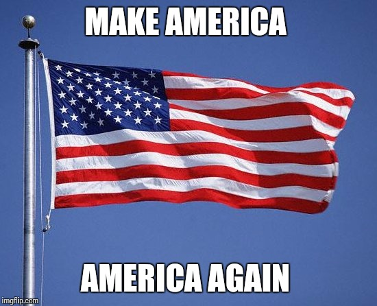 Make America Great  | MAKE AMERICA AMERICA AGAIN | image tagged in make america great | made w/ Imgflip meme maker