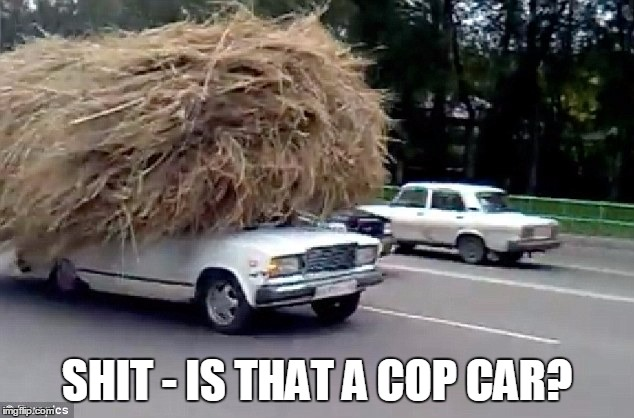 SHIT - IS THAT A COP CAR? | made w/ Imgflip meme maker
