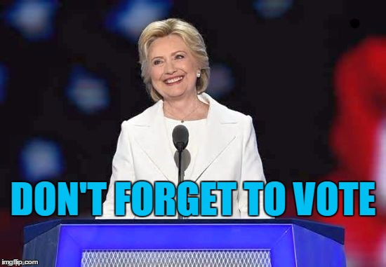 Hillary | DON'T FORGET TO VOTE | image tagged in hillary | made w/ Imgflip meme maker