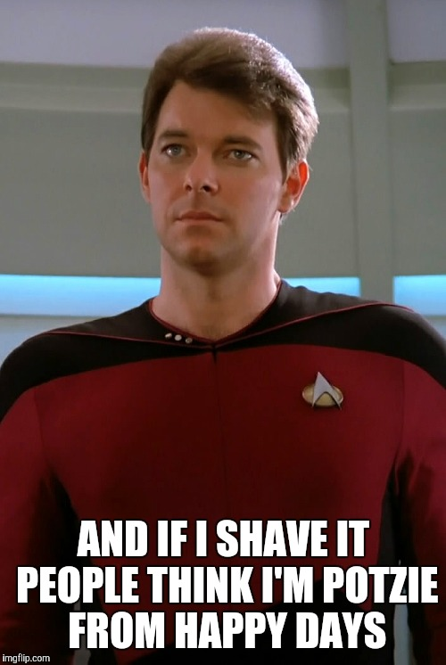 AND IF I SHAVE IT PEOPLE THINK I'M POTZIE FROM HAPPY DAYS | made w/ Imgflip meme maker