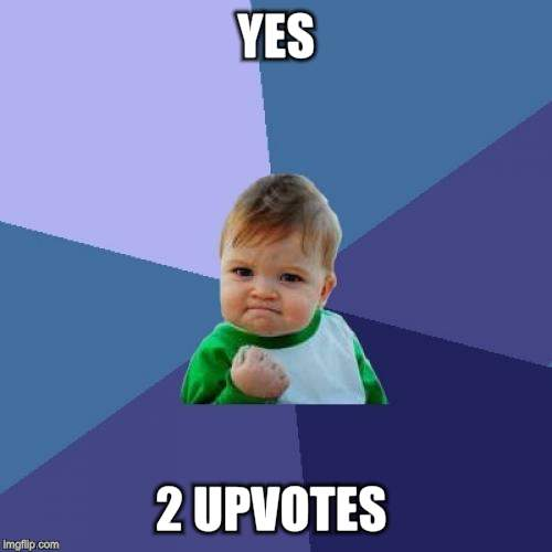 Success Kid Meme | YES 2 UPVOTES | image tagged in memes,success kid | made w/ Imgflip meme maker