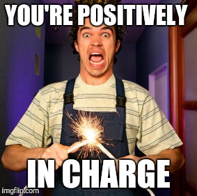 YOU'RE POSITIVELY IN CHARGE | made w/ Imgflip meme maker