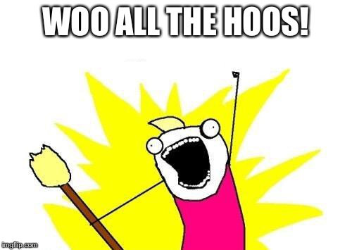 X All The Y Meme | WOO ALL THE HOOS! | image tagged in memes,x all the y | made w/ Imgflip meme maker