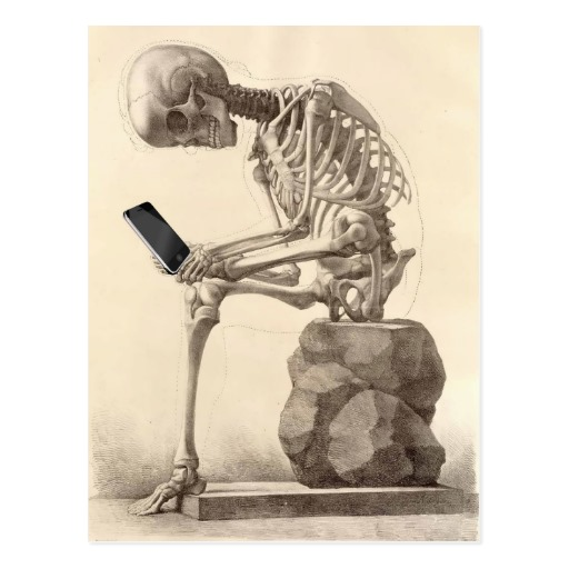skeleton checking cell phone blank template imgflip