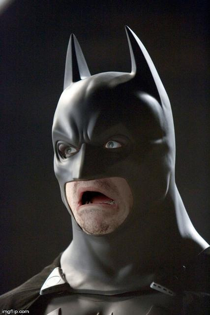Batman Gasp | D | image tagged in batman gasp | made w/ Imgflip meme maker