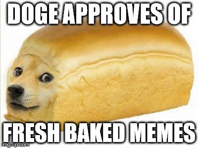 DOGE APPROVES OF FRESH BAKED MEMES | made w/ Imgflip meme maker