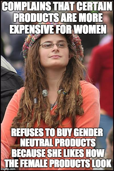 "Feminists strike again with the terrifying ""Pink Tax"" 