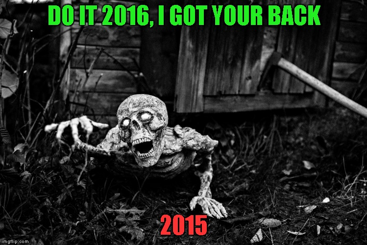 DO IT 2016, I GOT YOUR BACK 2015 | made w/ Imgflip meme maker