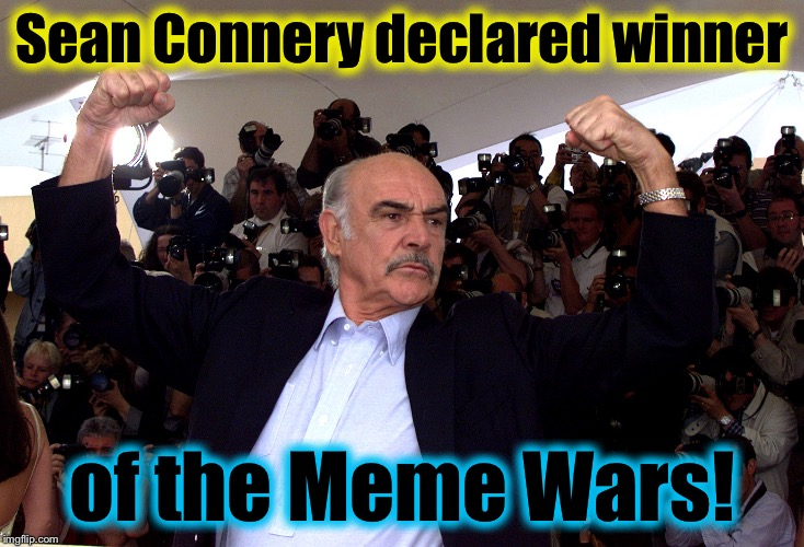 19r68v sean connery declared winner of the meme wars by doge! the war is