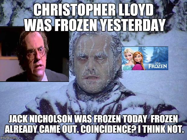 Jack Nicholson The Shining Snow Meme Imgflip