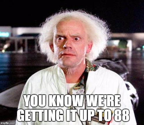 YOU KNOW WE'RE GETTING IT UP TO 88 | made w/ Imgflip meme maker