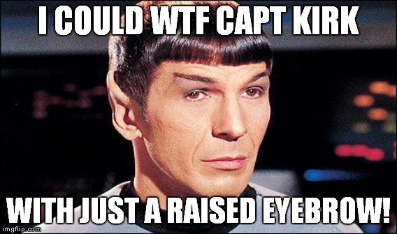 I COULD WTF CAPT KIRK WITH JUST A RAISED EYEBROW! | made w/ Imgflip meme maker