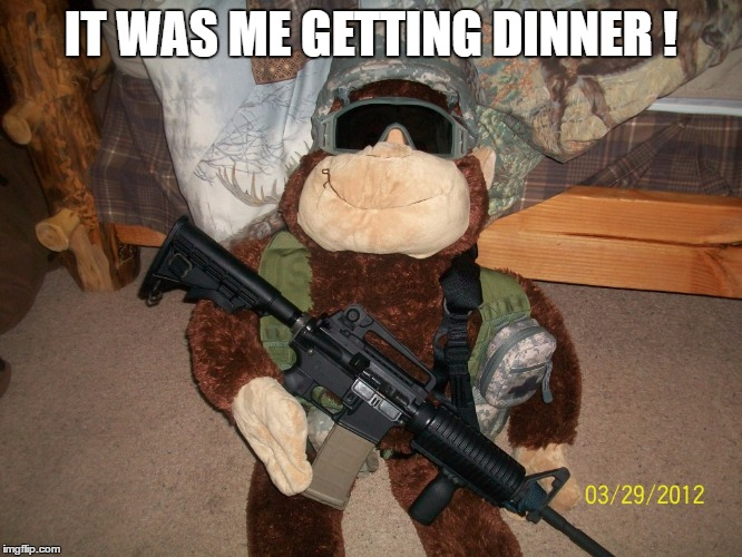 IT WAS ME GETTING DINNER ! | made w/ Imgflip meme maker