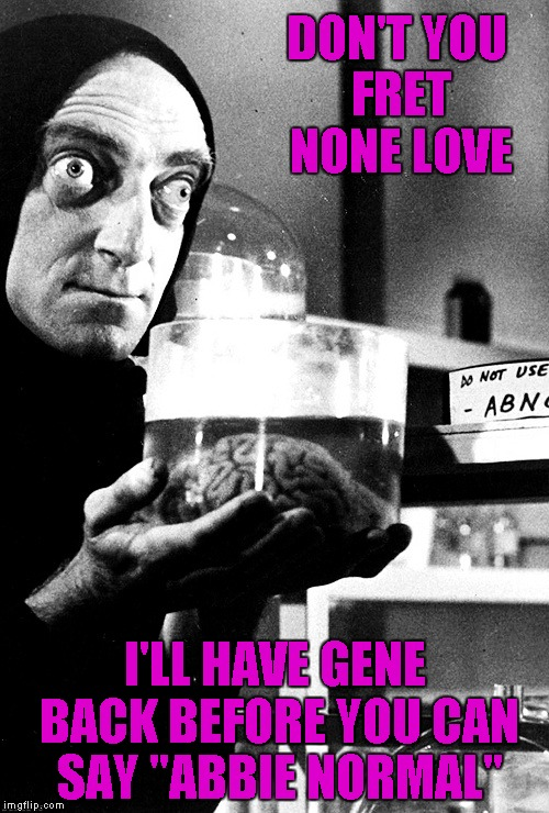 "Rest in Peace Gene Wilder and Marty Feldman | DON'T YOU FRET NONE LOVE I'LL HAVE GENE BACK BEFORE YOU CAN SAY ""ABBIE NORMAL"" 