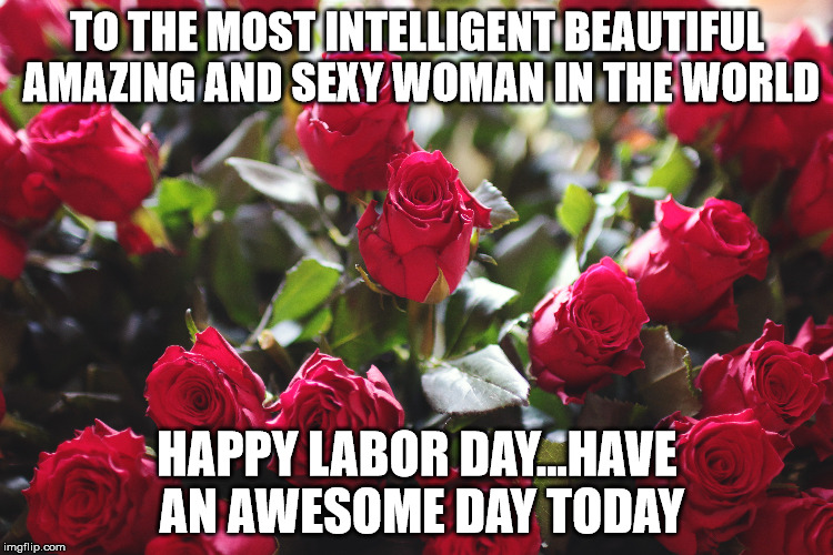 Happy Labor Day to my sweetie | TO THE MOST INTELLIGENT BEAUTIFUL AMAZING AND SEXY WOMAN IN THE WORLD HAPPY LABOR DAY...HAVE AN AWESOME DAY TODAY | image tagged in happy labor day,most beautiful woman | made w/ Imgflip meme maker