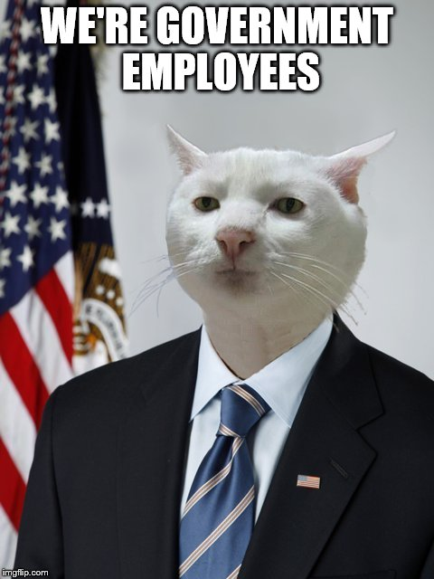 WE'RE GOVERNMENT EMPLOYEES | made w/ Imgflip meme maker