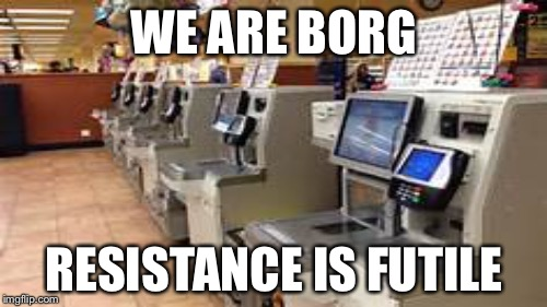 WE ARE BORG RESISTANCE IS FUTILE | made w/ Imgflip meme maker