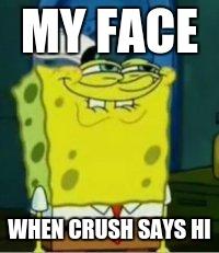 spongebob funny face imgflip