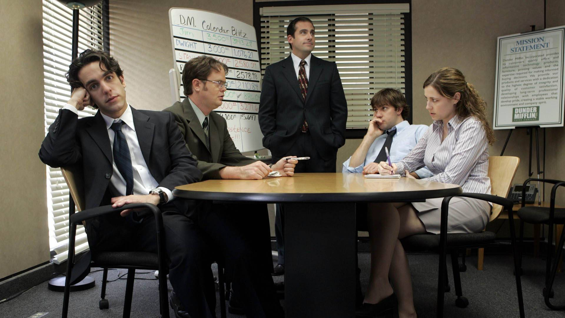 the office team meeting Blank Meme Template