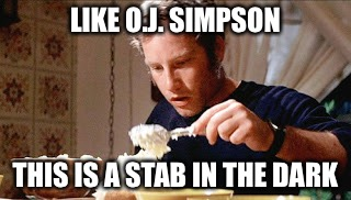 LIKE O.J. SIMPSON THIS IS A STAB IN THE DARK | made w/ Imgflip meme maker
