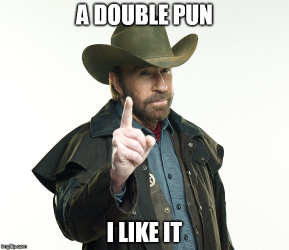 A DOUBLE PUN I LIKE IT | made w/ Imgflip meme maker