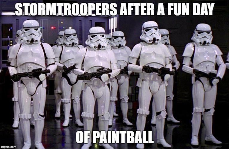 Risultati immagini per stormtrooper paintball