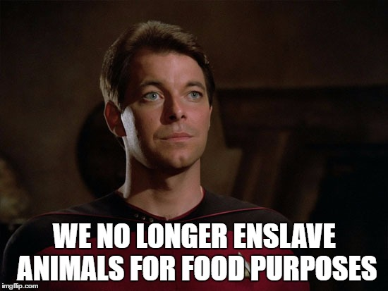 Image result for we no longer enslave animals for food