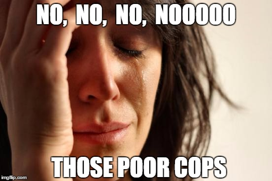 First World Problems Meme | NO,  NO,  NO,  NOOOOO THOSE POOR COPS | image tagged in memes,first world problems | made w/ Imgflip meme maker