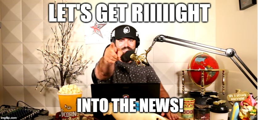 Keemstar's intro on DramaAlert |  LET'S GET RIIIIIGHT; INTO THE NEWS! | image tagged in keemstar,dramaalert,keemstar faggot,news,gnome | made w/ Imgflip meme maker