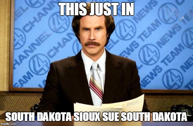 BREAKING NEWS | THIS JUST IN SOUTH DAKOTA SIOUX SUE SOUTH DAKOTA | image tagged in breaking news,pipeline,protest,native american,oil,south dakota | made w/ Imgflip meme maker