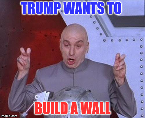 Dr Evil Laser | TRUMP WANTS TO BUILD A WALL | image tagged in memes,dr evil laser,relateable,funny | made w/ Imgflip meme maker