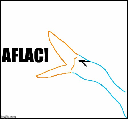 blank | AFLAC! | image tagged in blank | made w/ Imgflip meme maker