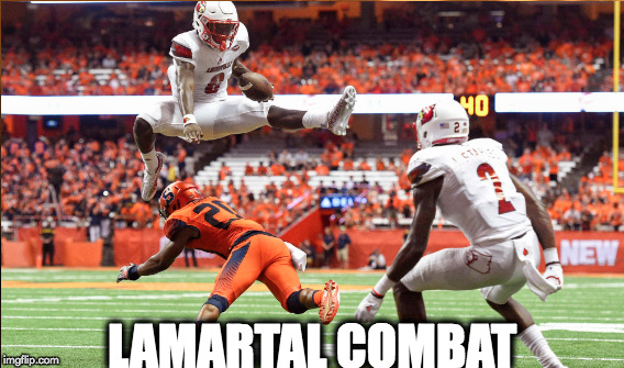 LAMARTAL COMBAT | image tagged in louisville,cardinals,uofl,football,espn,lamar | made w/ Imgflip meme maker