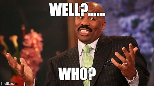 Steve Harvey Meme | WELL?...... WHO? | image tagged in memes,steve harvey | made w/ Imgflip meme maker