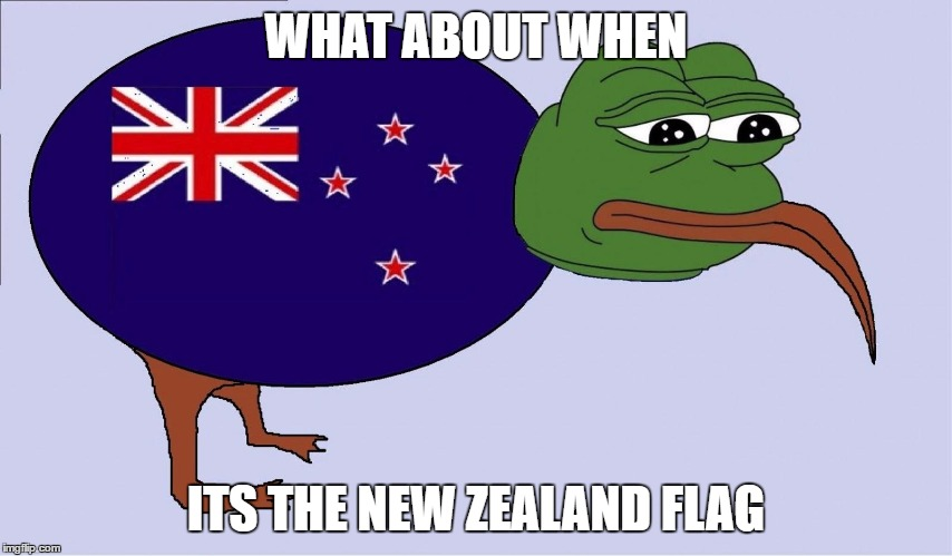 WHAT ABOUT WHEN ITS THE NEW ZEALAND FLAG | made w/ Imgflip meme maker