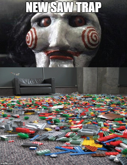 NEW SAW TRAP | image tagged in saw,trap,lego,torture | made w/ Imgflip meme maker