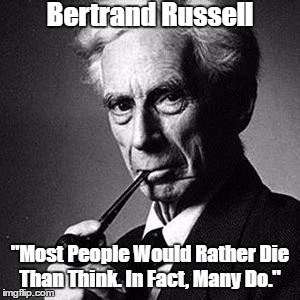 Image result for bertrand russell many do pax on both houses