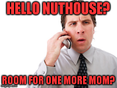 HELLO NUTHOUSE? ROOM FOR ONE MORE MOM? | made w/ Imgflip meme maker