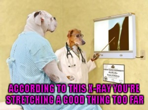 ACCORDING TO THIS X-RAY YOU'RE STRETCHING A GOOD THING TOO FAR | made w/ Imgflip meme maker