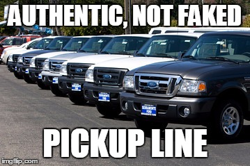 AUTHENTIC, NOT FAKED PICKUP LINE | made w/ Imgflip meme maker
