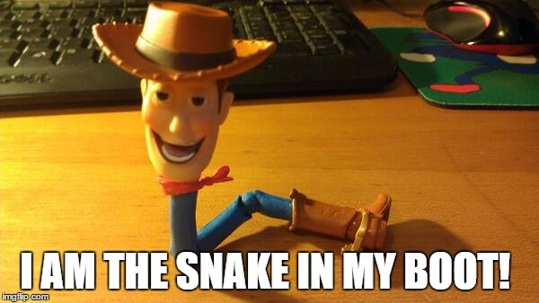 I AM THE SNAKE IN MY BOOT! | made w/ Imgflip meme maker