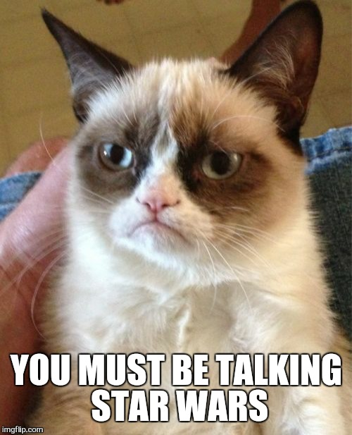 Grumpy Cat Meme | YOU MUST BE TALKING STAR WARS | image tagged in memes,grumpy cat | made w/ Imgflip meme maker