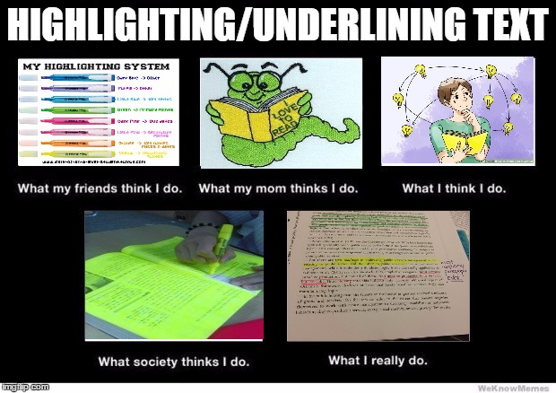What I really do | HIGHLIGHTING/UNDERLINING TEXT | image tagged in what i really do | made w/ Imgflip meme maker
