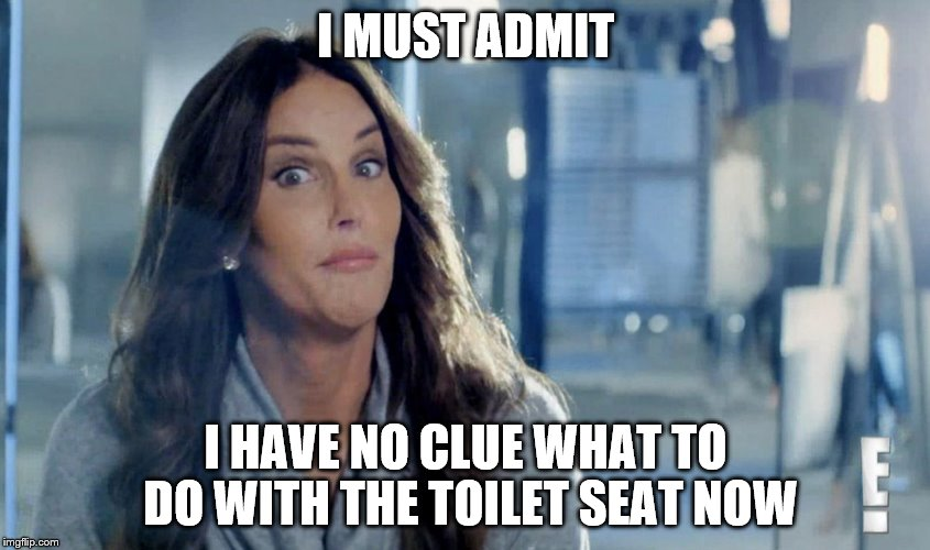 I MUST ADMIT I HAVE NO CLUE WHAT TO DO WITH THE TOILET SEAT NOW | made w/ Imgflip meme maker